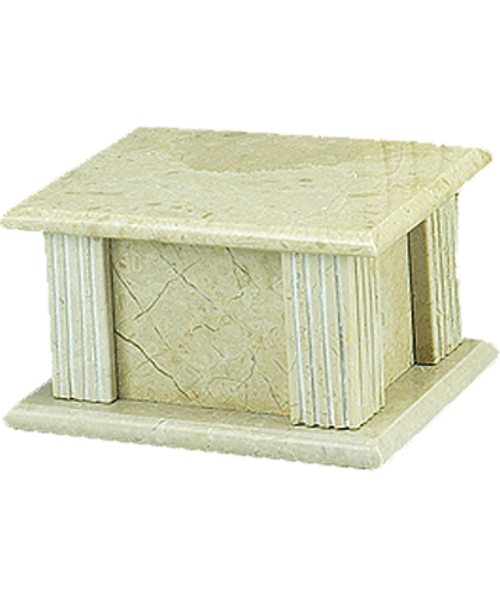 CreamWash marble rectangle cremation urn for ashes.
