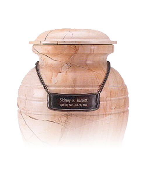 Pet urn medallion 54 to personalize cremation urn for ashes.