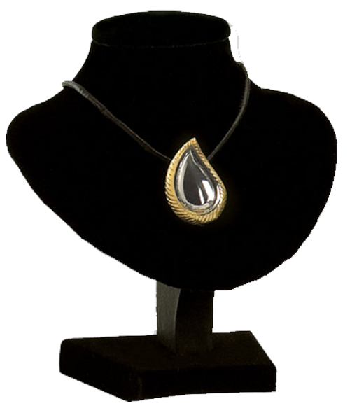 SilverGold teardrop cremation memorial jewelry necklace pendant.