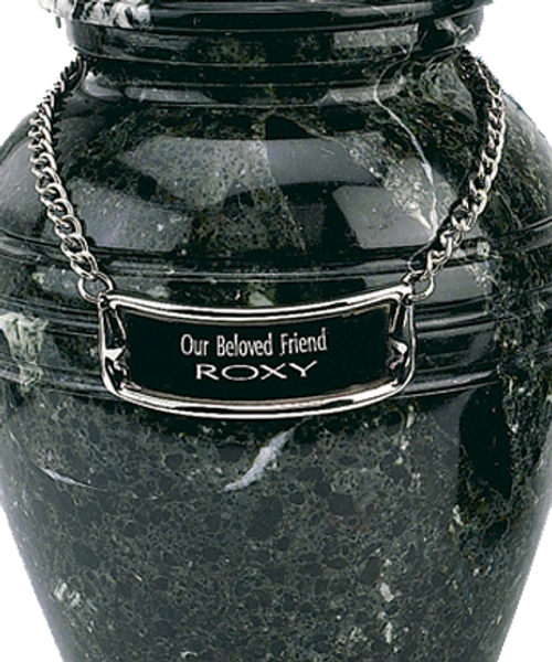 Pet urn medallion 63 to personalize cremation urn for ashes.