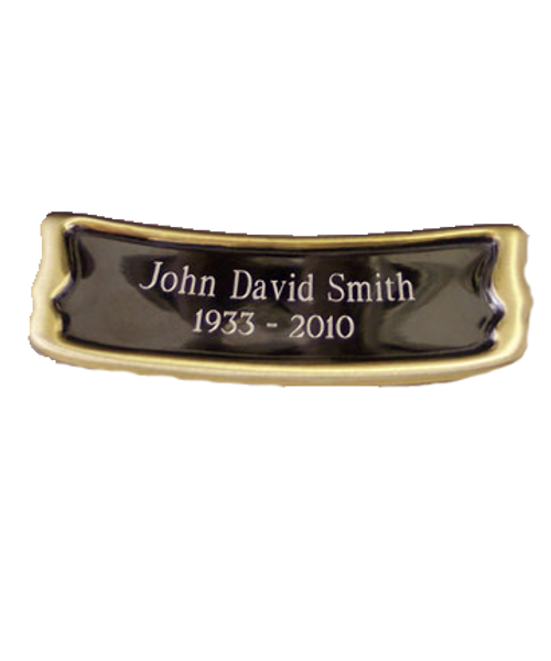 Urn medallion 38 for personalization of cremation urns for ashes.