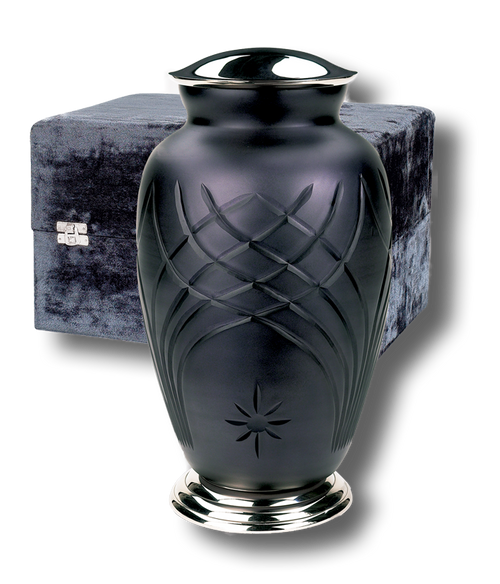 Classic ArtGlass cremation urn for ashes.