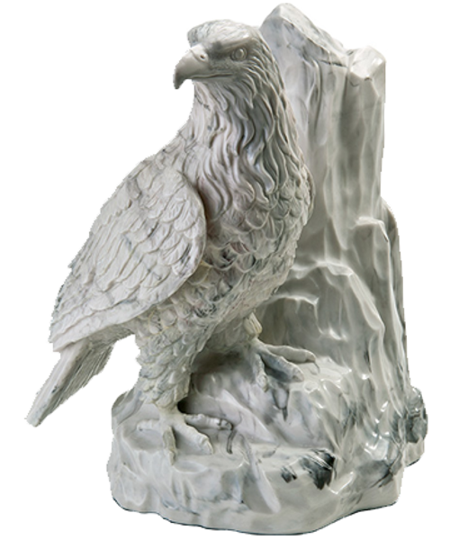 Eagle at rest token keepsake sculpture cremation urn for ashes.