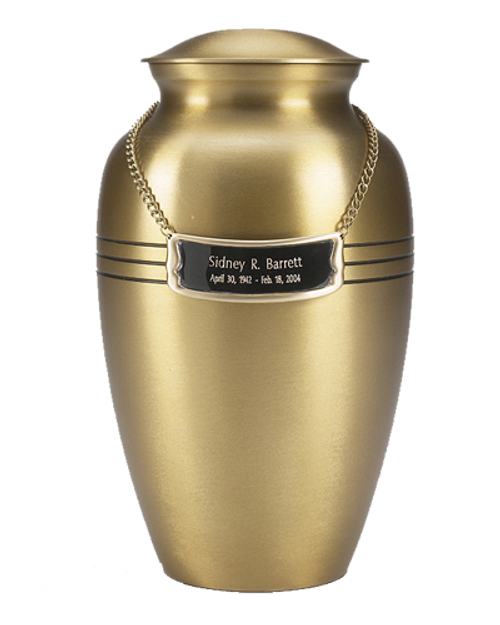 Urn medallion to personalize cremation urns number thirty-four.