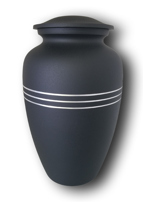Black Alloy Adult Urn