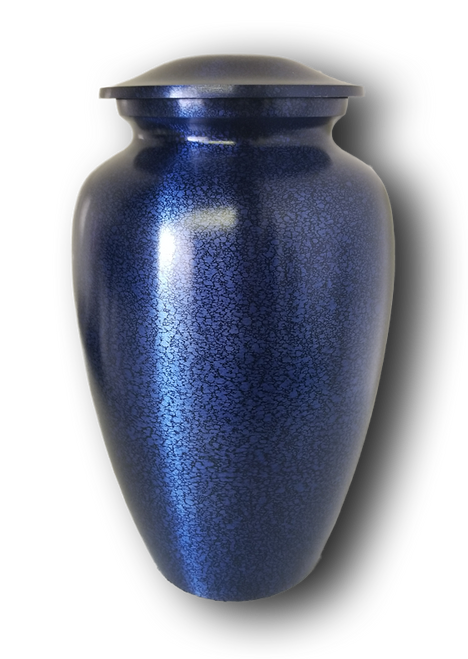 Blue Alloy Adult Urn