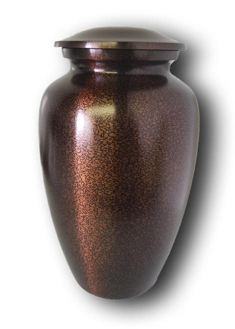 Brown Alloy Adult Urn