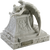 Angel in mourning marble adult size cremation urn for ashes front side.