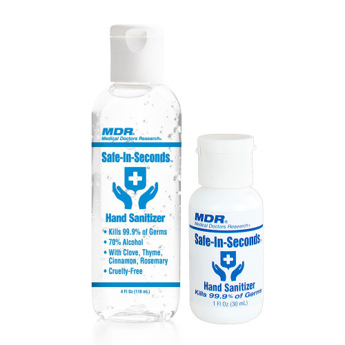 YOUR FREE GIFT - Safe-In-Seconds Hand Sanitizer 4oz & 1 oz Pack