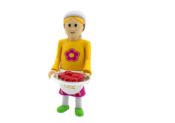 JEWISH MOTHER AND SHABBOS CANDLES & CHALLAH  (COMPATIBLE WITH PLAYMOBIL)