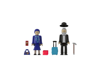 JEWISH GRANDMOTHER & GRANDFATHER (COMPATIBLE WITH PLAYMOBIL)