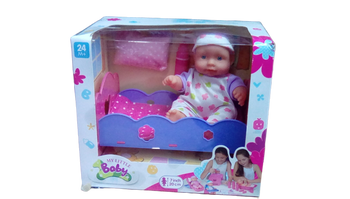MY LITTLE BABY DOLL WITH BED 8 INCH DOLL