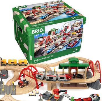 BRIO RAILWAY DELUXE TRAIN SET