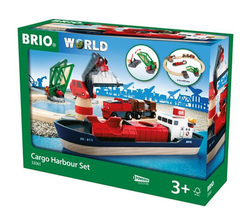 BRIO CARGO HARBOUR SET BATTERY OPERATED 33061