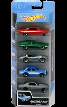 HOT WEELS 5 PACK CARS (STYLES VARY)