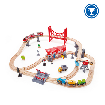 HAPE BUSY CITY RAIL TRAIN SET
