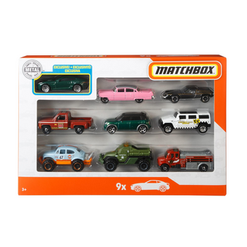 MATCHBOX CARS 9 PACK (STYLES VARY)