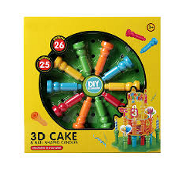 3D CAKE & NAIL SHAPED CANDLES