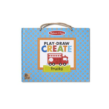 MELISSA & DOUG PLAY,  DRAW, CREATE REUSABLE DRAWING & MAGNETIC KIT- TRUCKS