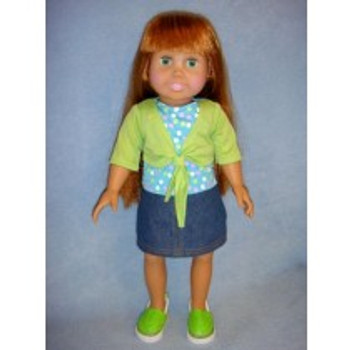 SPRINGFIELD 18 INCH DOLL SHRUG & SKIRT OUTFIT