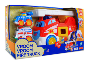 HAP-P-KID VROOM VROOM FIRE TRUCK RESCUE TEAM