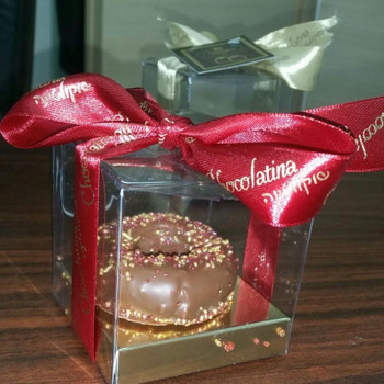 CHOCOLATE PRALINE DOUGHNUT