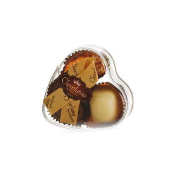 PRALINE CHOCOLATE HEART BOX- 3 PIECES