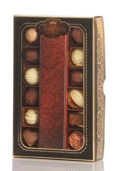 12 DAIRY CHOCOLATE PRALINES IN AN ORIGINAL LUXURY PACKAGE