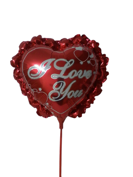 """""""I LOVE YOU"""" RED HEART SHAPED BALLOON"""