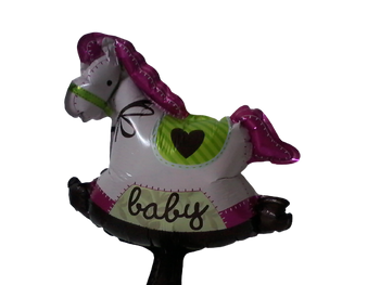 BABY GIRL ROCKING HORSE BALLOON JERUSALEM ONLY