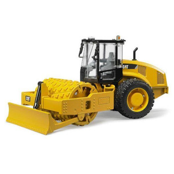 BRUDER CAT TRUCK- CATERPILLAR SOIL COMPACTOR WITH LEVELING BLADE