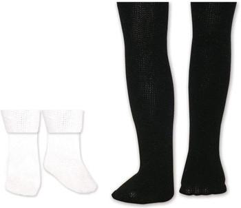 Springfield Collection Tights & Socks-White Socks & Black Tights
