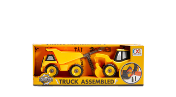 BULLDOZER + DIRT TRANSPORT TRUCK DIY FROM CXL (STYLES VARY)