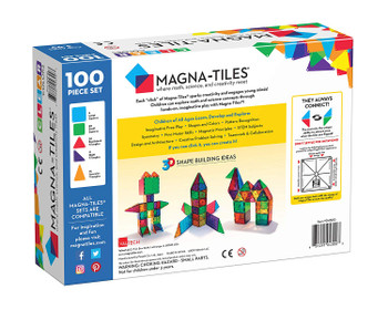 ORIGINAL MAGNATILES CLEAR COLORS 100 PIECE SET