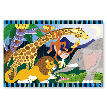 MELISSA & DOUG SAFARI SOCIAL FLOOR PUZZLE-24 PIECES