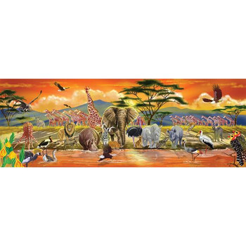 MELISSA & DOUG SAFARI FLOOR PUZZLE- 100 PIECES