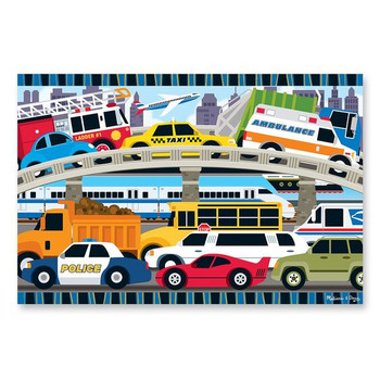 MELISSA & DOUG TRAFFIC JAM FLOOR PUZZLE-24 PIECES