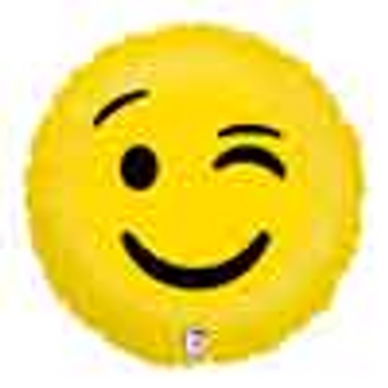 18 INCH HELIUM SMILEY FACE BALLOON (STYLES VARY) JERUSALEM ONLY