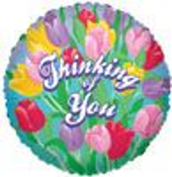 "18 INCH HELIUM ""THINKING OF YOU"" BALLOON (STYLES VARY)"