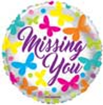 18 INCH HELIUM MISS YOU BALLOON (STYLES VARY) JERUSALEM ONLY