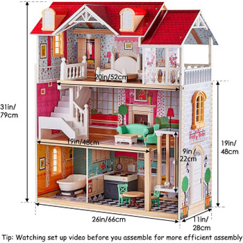 TOPBRIGHT WOODEN DOLLHOUSE