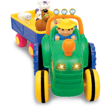 FARM TRACTOR WITH TRAILER- SPEAKS HEBREW