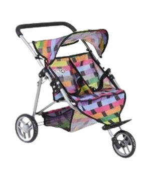 BUBBA BOO DOUBLE DOLL STROLLER (DESIGNS VARY)