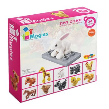 20 ANIMAL MAGIES MAGNETS (COLORS VARY)