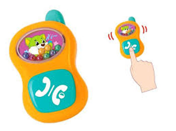 HOLA BABY PHONE RATTLE  (COLORS VARY)