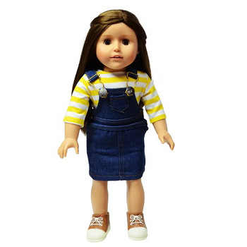 """THE NEW YORK DOLL 2 STRIPED SHIRTS FOR 18"""" DOLL (COLORS AND STYLES VARY)"""
