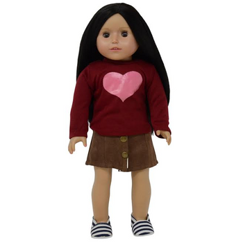 """THE NEW YORK DOLL CUTE TOP AND SKIRT FOR 18"""" DOLL (COLORS AND STYLES VARY)"""