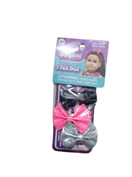 """SPRINGFIELD 3 PACK BOWS FOR 18"""" DOLL"""