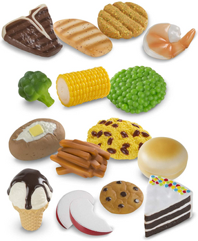 MELISSA & DOUG FOOD FUN COMBINE & DINE DINNERS 18 PIECE SET (STYLES VARY)