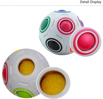 MAGIC RAINBOW BALL PUZZLE CUBE FIDGET EDUCATIONAL TOY (STYLES VARY)
